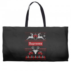 supreme ugly christmas sweater Weekender Totes | Artistshot
