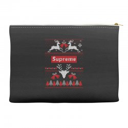 supreme ugly christmas sweater Accessory Pouches | Artistshot
