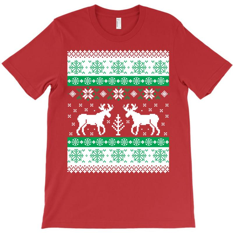 Christmas Ugly Sweater.Reindeer Christmas Ugly Sweater T Shirt By Artistshot