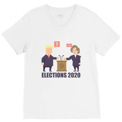 Elections 2020 V-neck Tee Designed By Wizarts