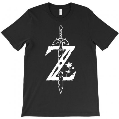The Legend Of Zelda - Breath Of The Wild White Logo T-shirt Designed By Republic Of Design