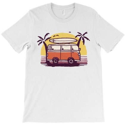 Sunset Van T-shirt Designed By Quilimo