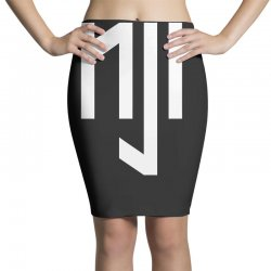 neymar jr sports white logos Pencil Skirts | Artistshot
