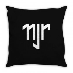 neymar jr sports white logos Throw Pillow | Artistshot