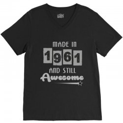 made in 1961 and still awesome V-Neck Tee | Artistshot