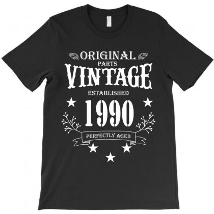 Original Parts Vintage Established 1990 Perfectly Aged T-shirt Designed By Wizarts