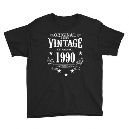 Original Parts Vintage Established 1990 Perfectly Aged Youth Tee Designed By Wizarts