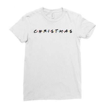 Friends Tv Show Parody Christmas Ladies Fitted T-shirt Designed By Sengul