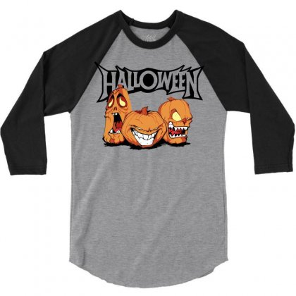 Halloween 3/4 Sleeve Shirt Designed By Sbm052017