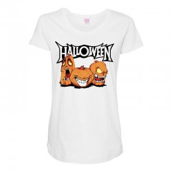 halloween Maternity Scoop Neck T-shirt | Artistshot
