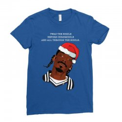 snoop Dogg christmas Ladies Fitted T-Shirt | Artistshot