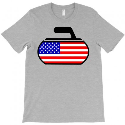 Usa Curling T-shirt Designed By Hot Design