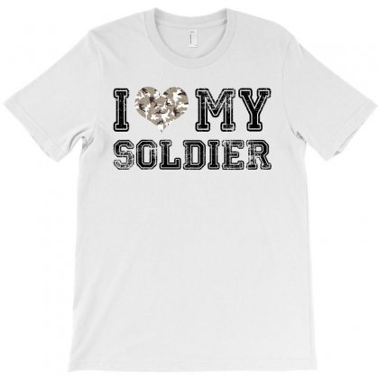I Love My Soldier Hunter Camouflage T-shirt Designed By Akin