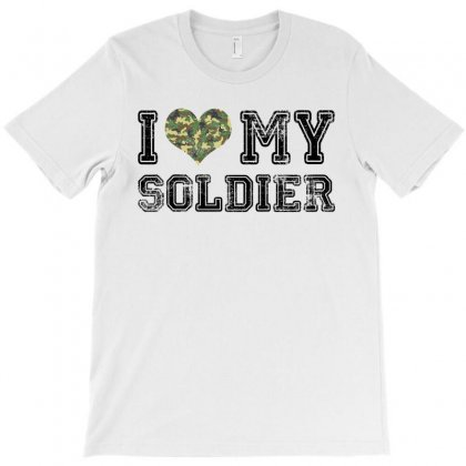 I Love My Soldier Regular Camouflage T-shirt Designed By Akin
