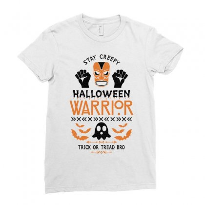Halloween Warrior Ladies Fitted T-shirt Designed By Akin