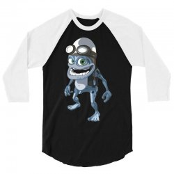 funny crazy frog, ideal gift or birthday present 3/4 Sleeve Shirt | Artistshot