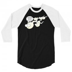 funny rude sperm bj ideal birthday gift or presen 3/4 Sleeve Shirt | Artistshot