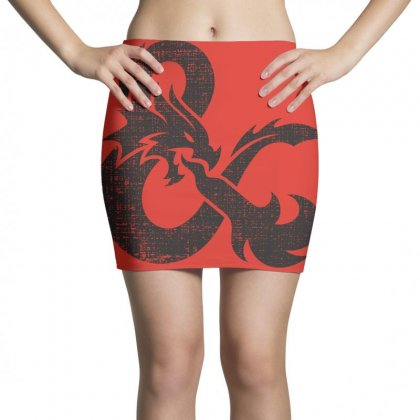 Dungeons Dragons Vintage Logo Mini Skirts Designed By Sengul