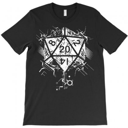 Dungeons And Dragons Dice Art T-shirt Designed By Sbm052017