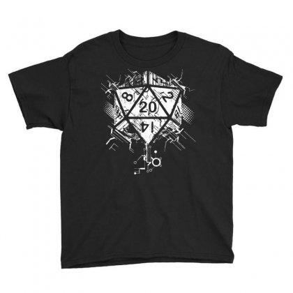 Dungeons And Dragons Dice Art Youth Tee Designed By Sbm052017