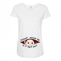 April Peeking Out Baby Boy Maternity Scoop Neck T-shirt | Artistshot