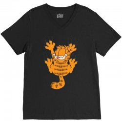 garfield scratching, ideal gift or birthday present funny V-Neck Tee | Artistshot
