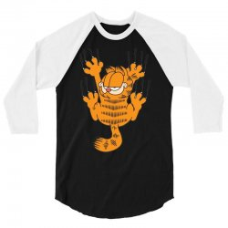 garfield scratching, ideal gift or birthday present funny 3/4 Sleeve Shirt | Artistshot