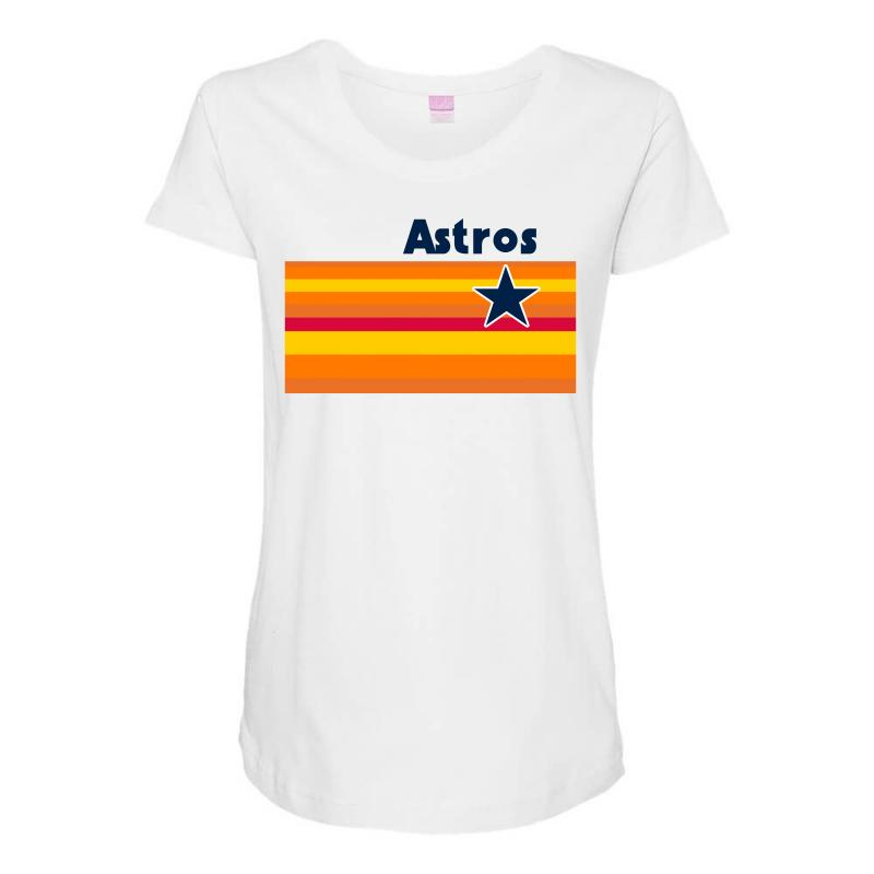 premium selection 2077b 05692 Houston Astros Jersey Logo Maternity Scoop Neck T-shirt. By Artistshot