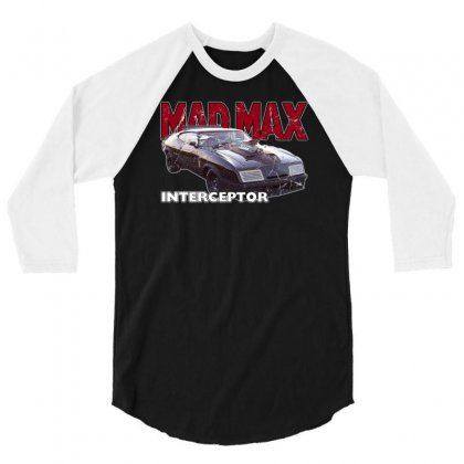 Mad Max Interceptor Ideal Birthday Gift Or Present 3/4 Sleeve Shirt Designed By Mdk Art