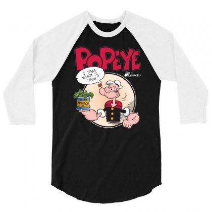 Popeye, Ideal Gift Or Birthday Present Fuuny 3/4 Sleeve Shirt Designed By Mdk Art