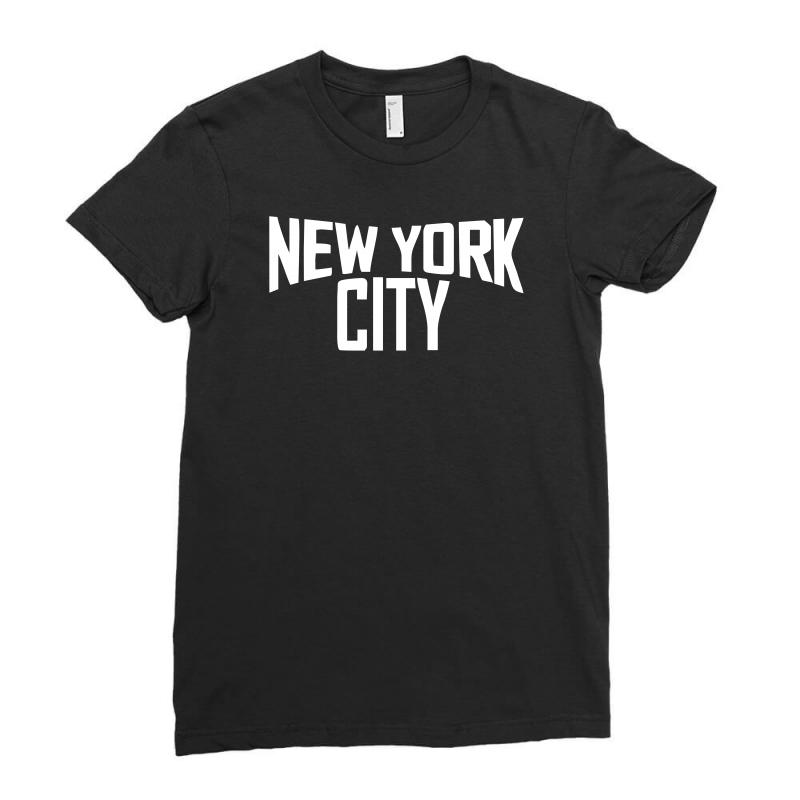 Custom New York City Ringer Ladies Fitted T-shirt By Mdk Art ... 27c29d4f8ae