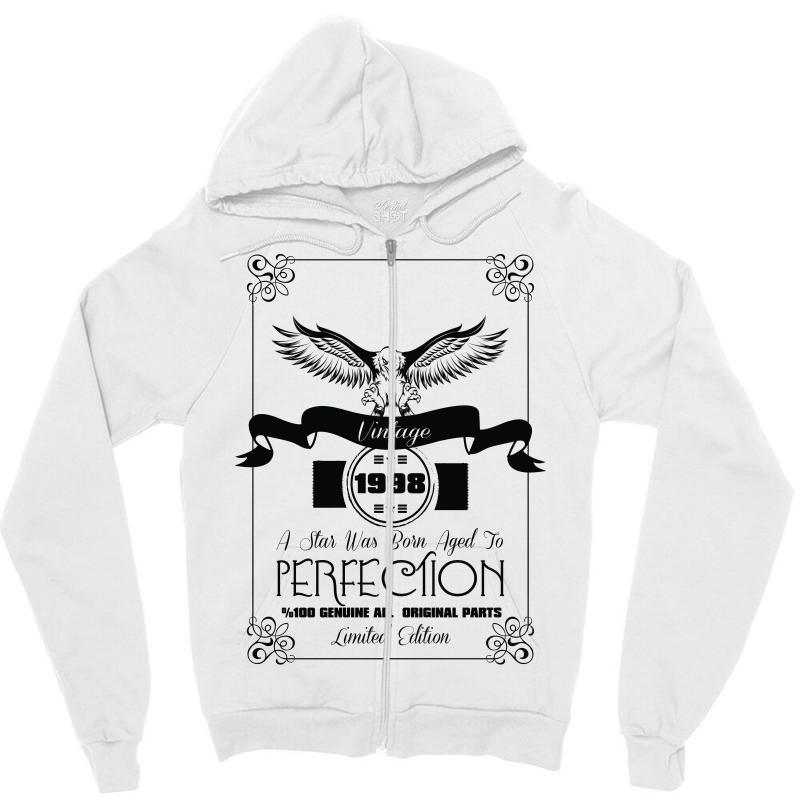 90992f547 Custom Vintage 1998 A Star Was Born Aged Perfection Zipper Hoodie By ...