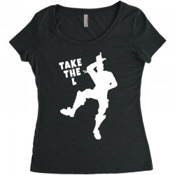 fortnite take the L Women's Triblend Scoop T-shirt | Artistshot