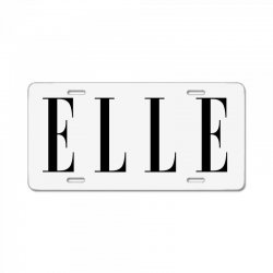 elle License Plate | Artistshot