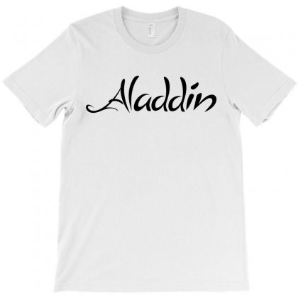 Aladdin Black Logo T-shirt Designed By Meza Design