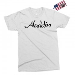 aladdin black logo Exclusive T-shirt | Artistshot