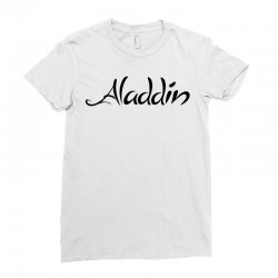 aladdin black logo Ladies Fitted T-Shirt | Artistshot