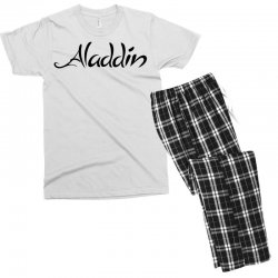 aladdin black logo Men's T-shirt Pajama Set | Artistshot