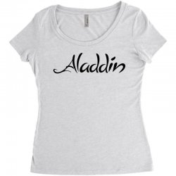 aladdin black logo Women's Triblend Scoop T-shirt | Artistshot