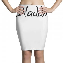 aladdin black logo Pencil Skirts | Artistshot