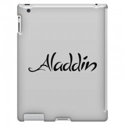 aladdin black logo iPad 3 and 4 Case | Artistshot