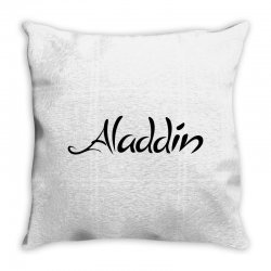 aladdin black logo Throw Pillow | Artistshot