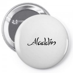 aladdin black logo Pin-back button | Artistshot