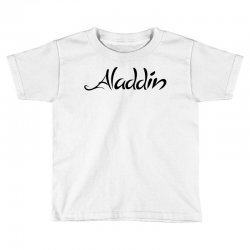 aladdin black logo Toddler T-shirt | Artistshot