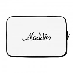 aladdin black logo Laptop sleeve | Artistshot
