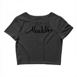 aladdin black logo Crop Top | Artistshot