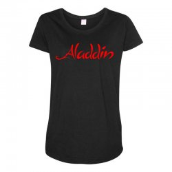 aladdin logo Maternity Scoop Neck T-shirt | Artistshot