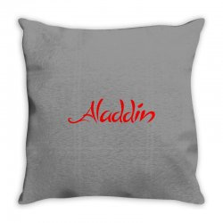 aladdin logo Throw Pillow | Artistshot