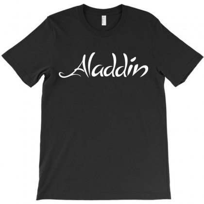 Aladdin White Logo T-shirt Designed By Meza Design
