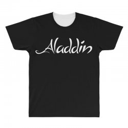 aladdin white logo All Over Men's T-shirt | Artistshot